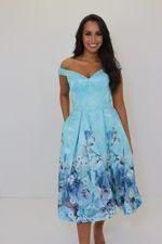 Leah Dress Blue