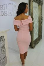 Bardot Midi Dress Blush Pink