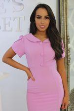 Pink Collared Midi Dress