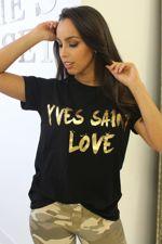 Yves Saint Love T-Shirt Black
