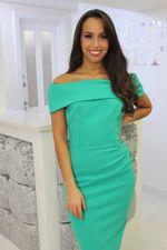 Megan Dress Apple Green