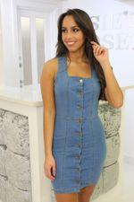 Denim Button Up Mini Dress