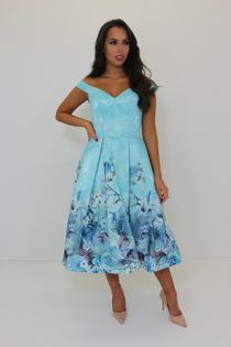 Leah Dress Blue