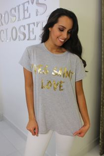 Yves Saint Love T-Shirt Grey
