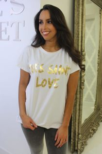 Yves Saint Love T-Shirt White