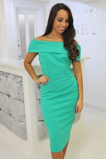 Megan Dress Apple Green