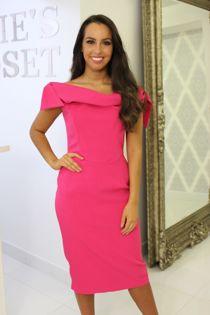 Tara Dress Hot Pink