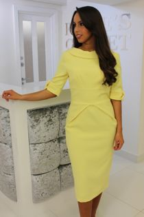 Jackie Dress Lemon