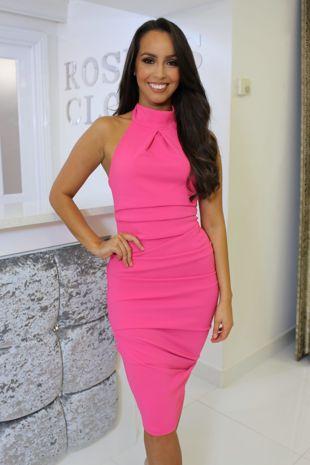Bethany Dress Hot Pink