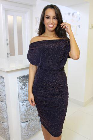Oxygen Dress Purple Glitter