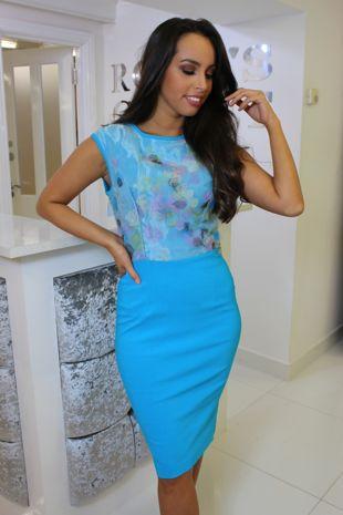 Sky Blue Petal Dress