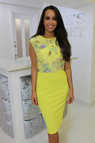 Yellow Petal Dress