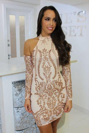 Sophia Dress Rose Gold