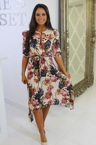 Alice Patterened Midi Dress
