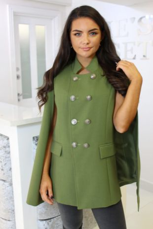 Green Cape Coat