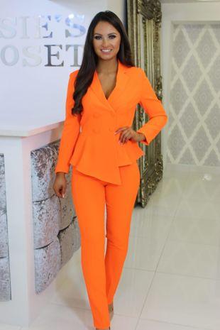 Bright Orange Trouser Suit