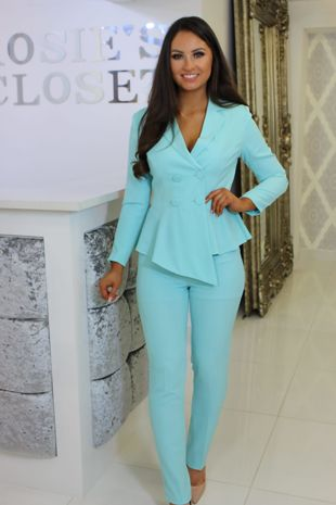 Turquoise Trouser Suit