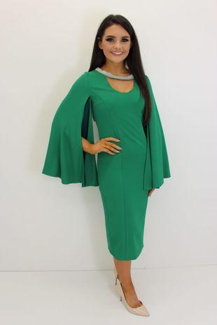 Khaki Frill Hem Dress-Copy