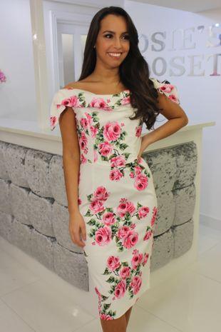Tara Dress Rose Print
