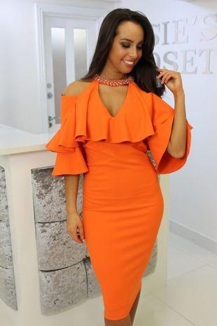 Kourtney Dress Orange