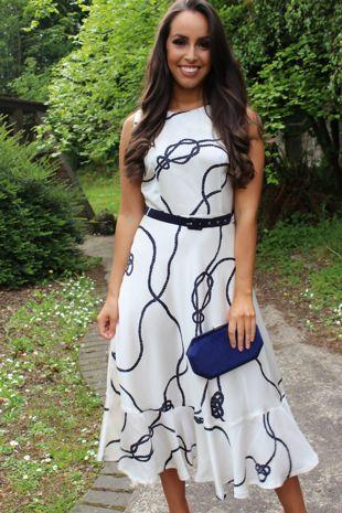 Ivory Chain Printed Dress