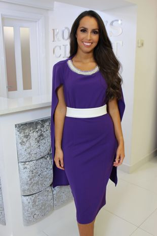 Purple Cape Dress