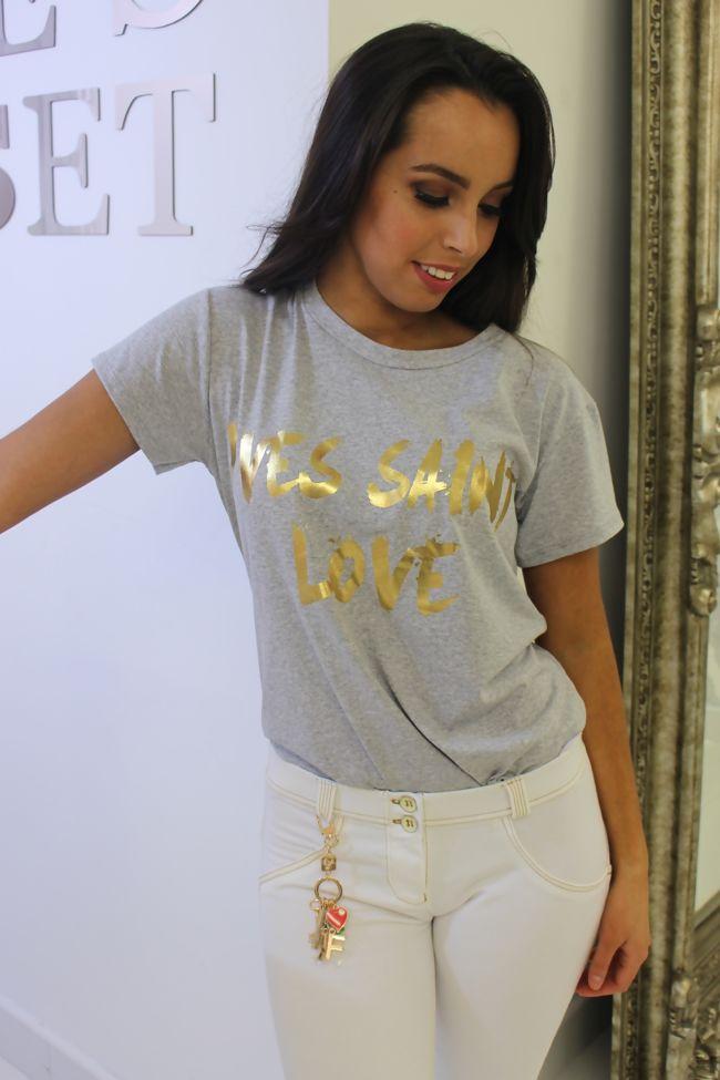 Yves Saint Love T-Shirt Grey