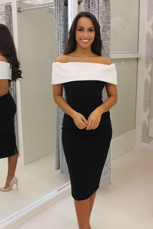 Megan Dress Monochrome