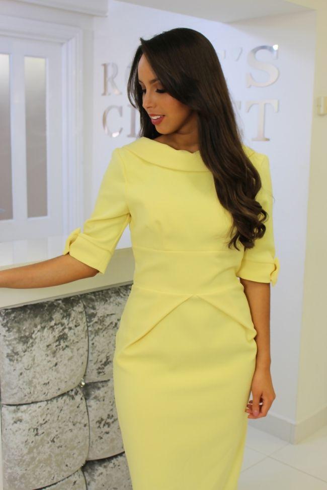 Jackie Dress Lemon