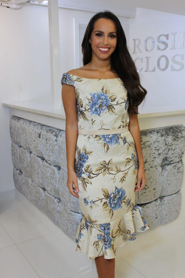603c232b6b Floral Bardot Dress Blue